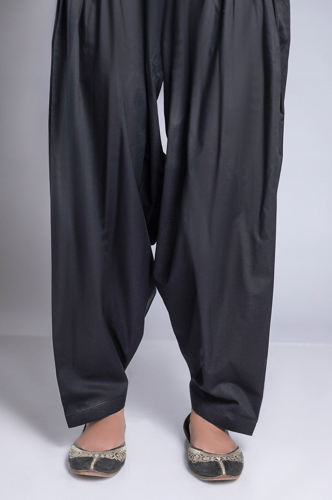 Basic Plain Shalwar - Black