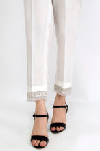 Load image into Gallery viewer, Embroidered Cambric Pants - White