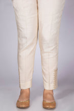 Load image into Gallery viewer, Embroidered Cigarette Pants - Light Beige