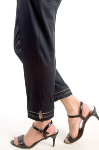 Embellished Cigarette Pants - Black
