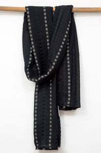 Woven-Solid-Scarf-Black