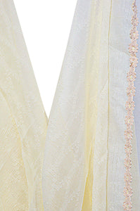 Jacquard-Lace-trimmed-Scarf-Offwhite