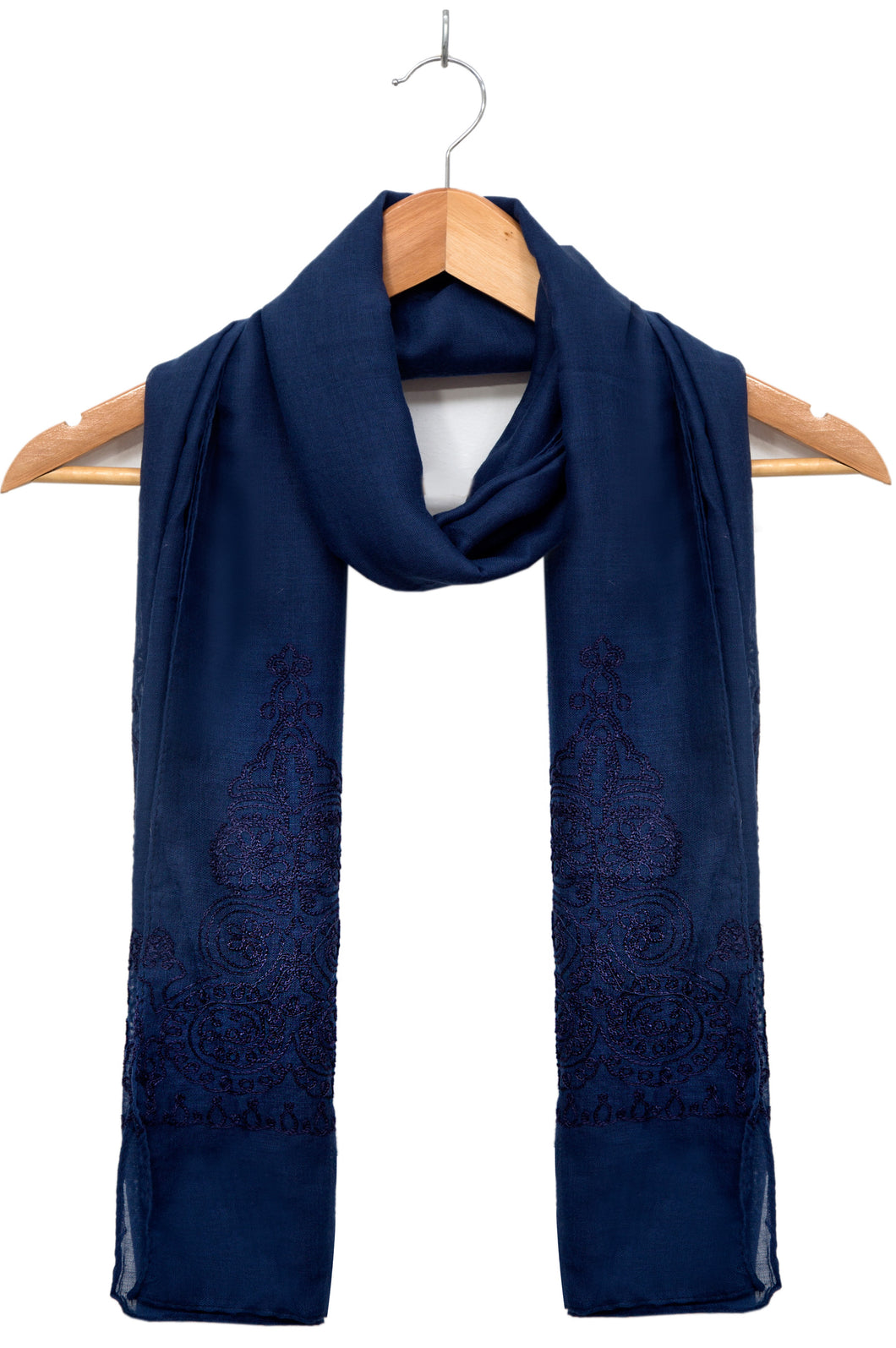 Embroidered-Scarf-Royal-Blue