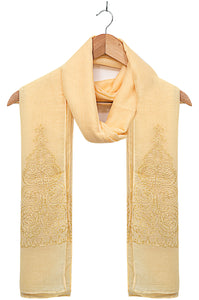 Solid-Embroidered-Scarf-Lemon