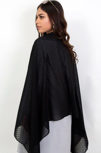 Chiffon Embossed Solid - Black