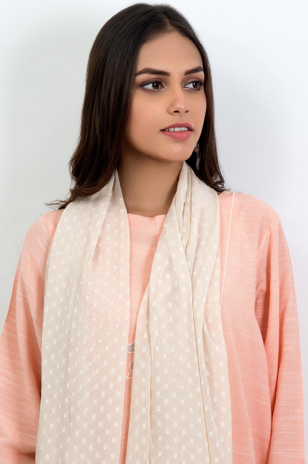 Chiffon Embossed Solid - Light Beige