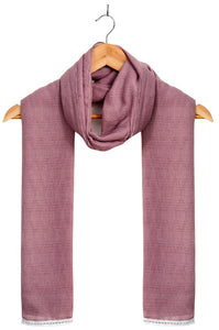 Jacquard Lace trimmed Scarf