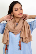 Load image into Gallery viewer, Stripe Affair Scarf- Beige