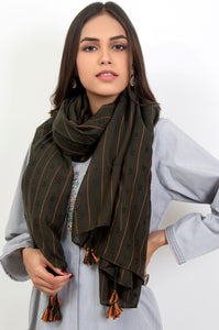 Stripe Affair Scarf - Green