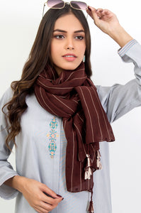 Stripe Affair Scarf - Brown