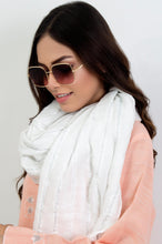 Load image into Gallery viewer, Silver Zari Woven Scarf