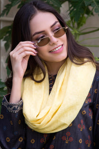 Jacquard Scarf - Lemon Yellow
