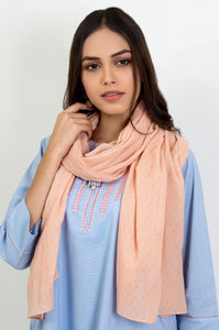 Jacquard Scarf - Light Peach