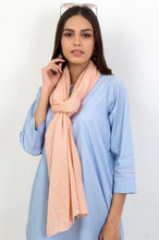 Load image into Gallery viewer, Jacquard Scarf - Light Peach