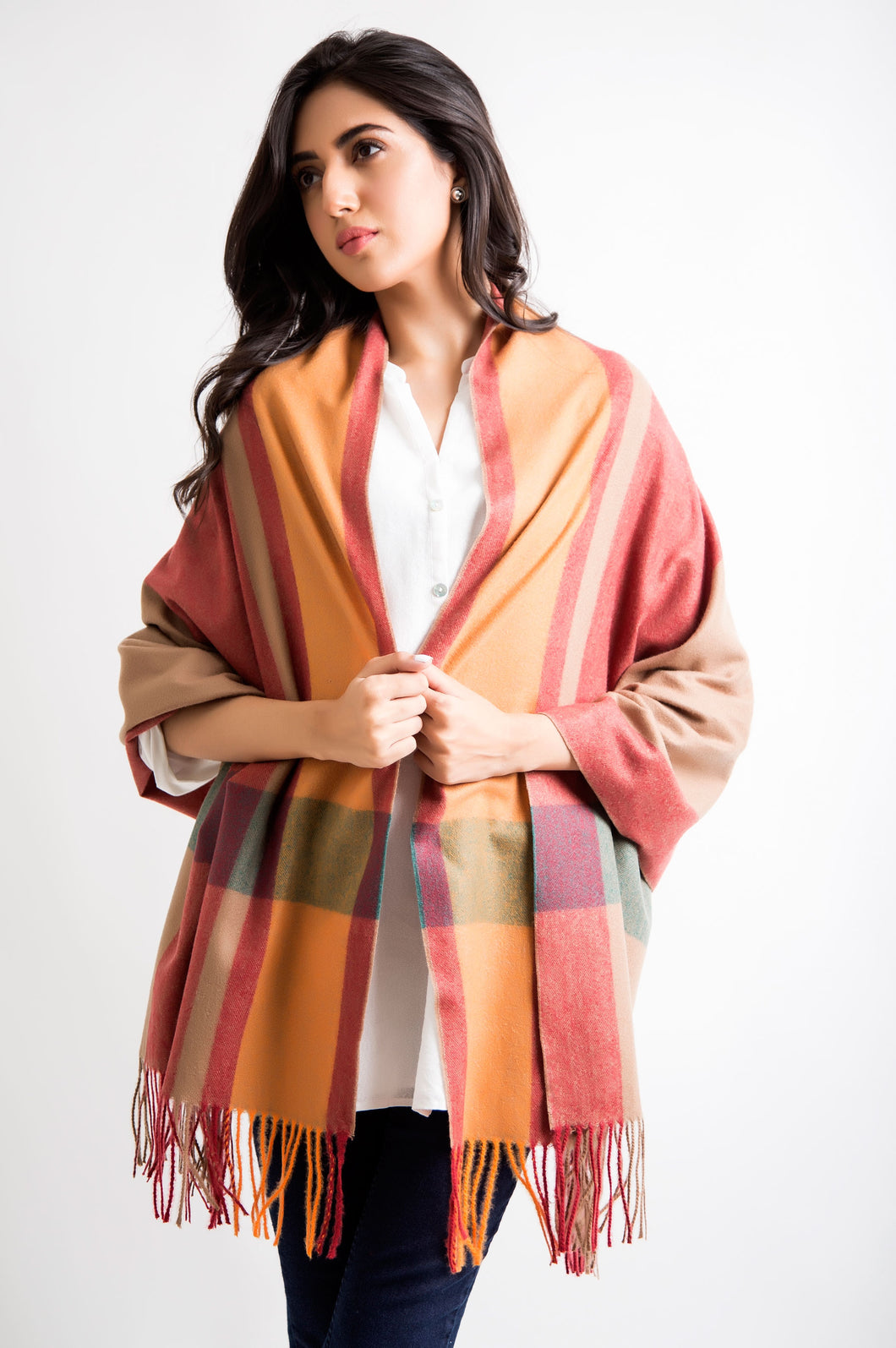 Color Block Shawls