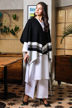 Load image into Gallery viewer, Classic Striped Cape Shawl