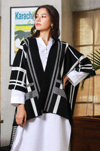 Load image into Gallery viewer, Plaid Cape Shawl