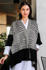 Tartan Stripes Cape Shawl