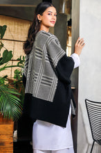 Load image into Gallery viewer, Tartan Stripes Cape Shawl