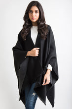 Load image into Gallery viewer, Woven Reversible Poncho Shawl