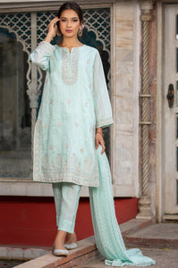 3 Piece Unstitched Suit-Fabric: Slub Raw Silk