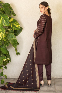 Unstitched 3 Piece Embroidered Raw Silk Suit