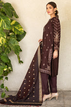 Load image into Gallery viewer, Unstitched 3 Piece Embroidered Raw Silk Suit