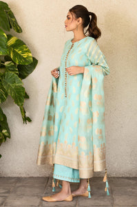 3 Piece Unstitched Suit-Fabric: Jacquard