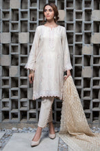 Load image into Gallery viewer, 3 PC Unstitched Suit-Fabric: Striped Khadi Net