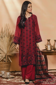 3 PC Unstitched Suit-Fabric: Cotton Net