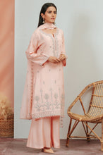 Load image into Gallery viewer, 3 Piece Unstitched Embroidered Raw Silk Suit With Chiffon Dupatta