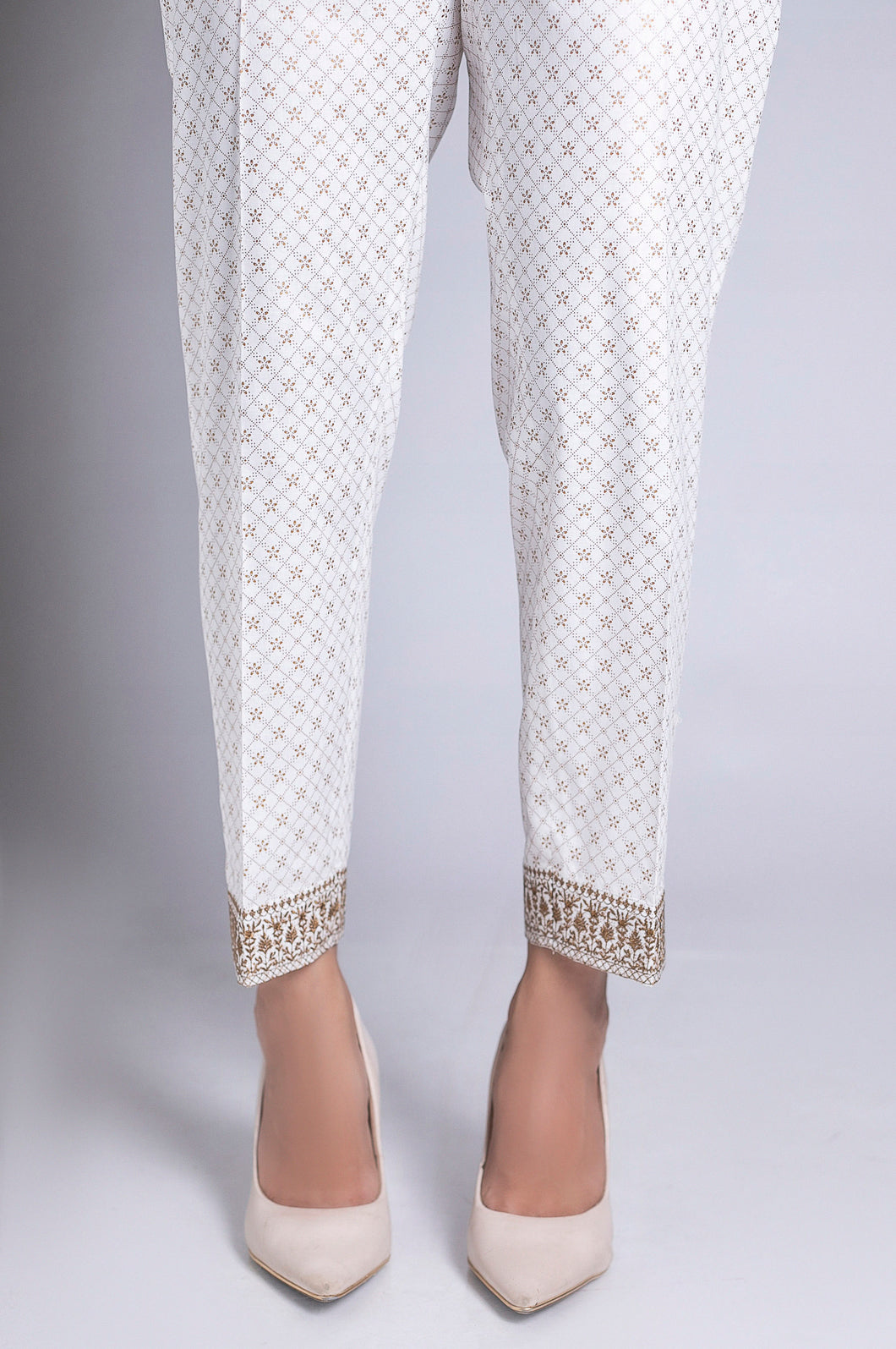 Embroidered Cigarette Pant - Copper Paste