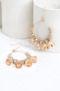 Bell Crystal Hoops