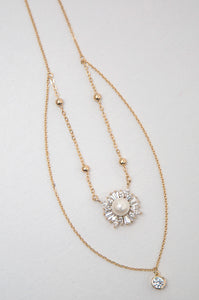 Pearl Halo Double Necklace