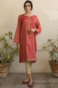Stitched 1 Piece Embroidered Mysori Net Shirt