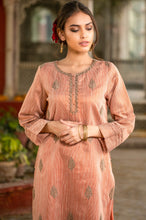 Load image into Gallery viewer, Stitched 1 Piece Khaddi Net Embroidered Shirt