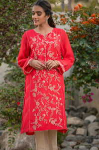 Stitched 1 Piece Georgette Embroidered Shirt
