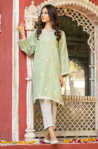 Stitched 1 Piece Organza Embroidered Shirt