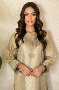 Stitched 1 Piece Jacquard Embroidered Shirt