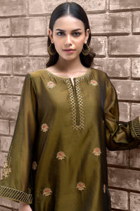 Stitched 1 Piece Organza Embroidered Suit