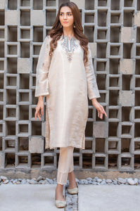 Stitched 1 Piece Mysuri Net Embroidered Shirt