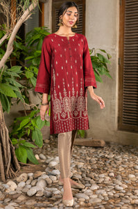 Stitched 1 Piece Cotton Silk Embroidered Shirt