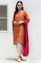 Load image into Gallery viewer, Stitched 2 Piece Stripe Karandi Embroidered Suit