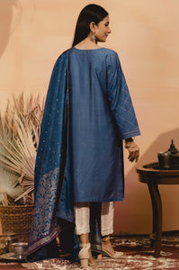 Stitched 2 Piece Raw Silk Embroidered Suit