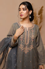 Load image into Gallery viewer, Stitched 2 Piece Zari Khaddi Net Embroidered Suit
