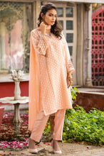 Load image into Gallery viewer, Stitched 3 Piece Jacquard Organza Embroidered Suit