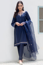 Load image into Gallery viewer, Stitched 3 Piece Cotton Silk Embroidered Suit