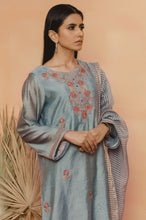 Load image into Gallery viewer, Stitched 3 Piece Cotton Net Embroidered Suit
