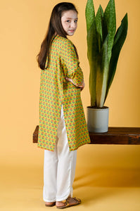 1 Piece Embellished Shirt - Khaddar