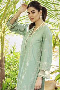 Unstitched 3 Piece Yards Dyed Chikankari Lawn Suit with Chiffon Chikankari Dupatta
